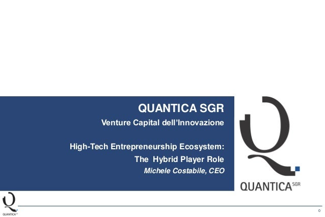 0 QUANTICA SGR Venture Capital della Ricerca Company Profile QUANTICA SGR Venture Capital dell'Innovazione High-Tech Entre...