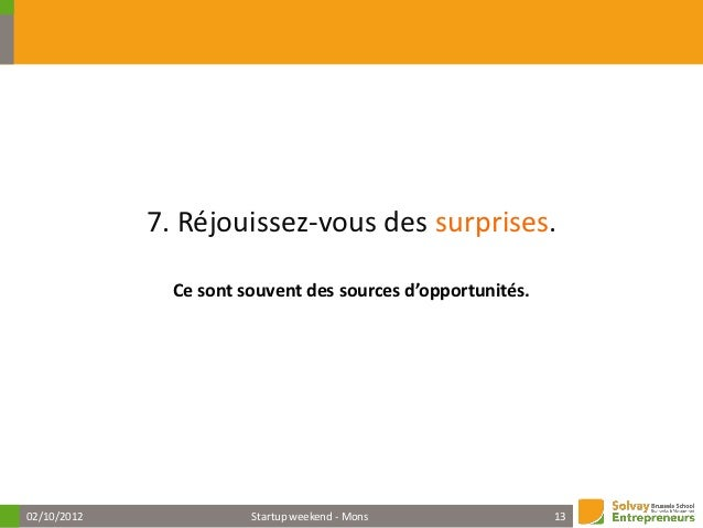 1402/10/2012   Startup weekend - Mons