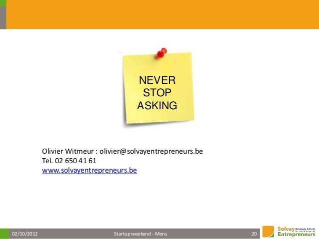 10 conseils avant de se lancer par Olivier Witmeur