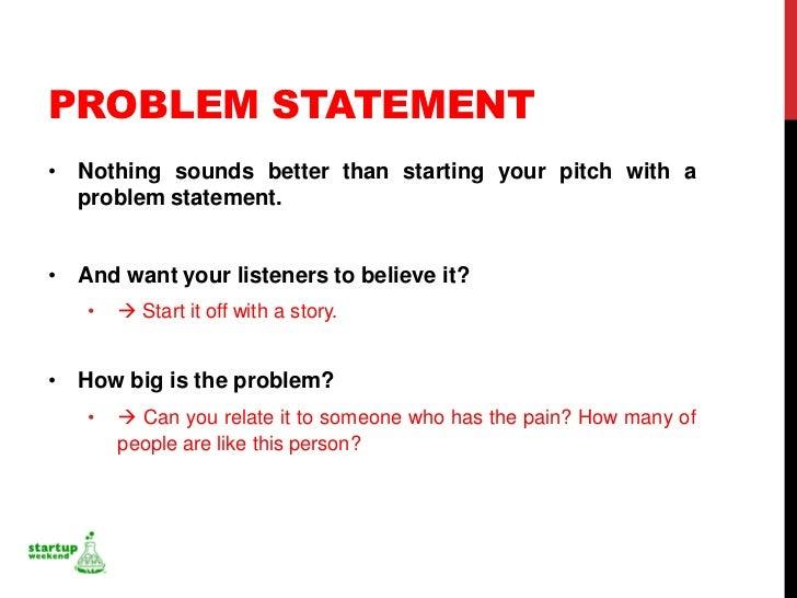 problem statement ppt