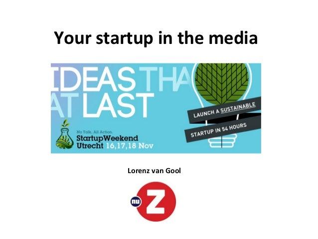 Your startup in the media         Lorenz van Gool