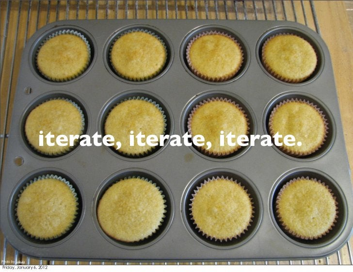 iterate, iterate, iterate.Photo by oskay