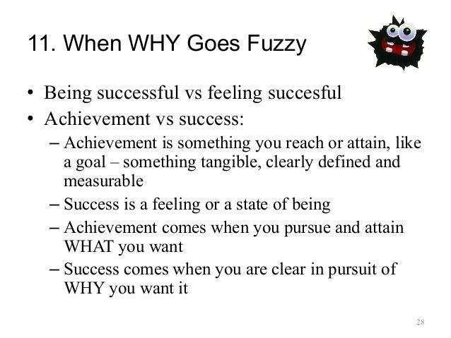 Pursuit vs attainment