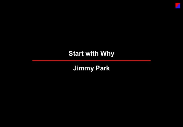 Start with Why Jimmy Park