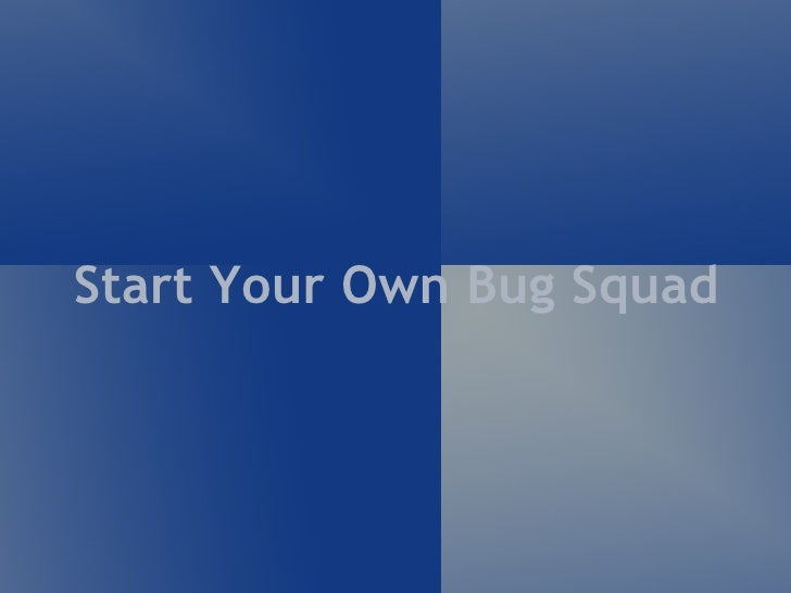 Start Your Own Bug Squad