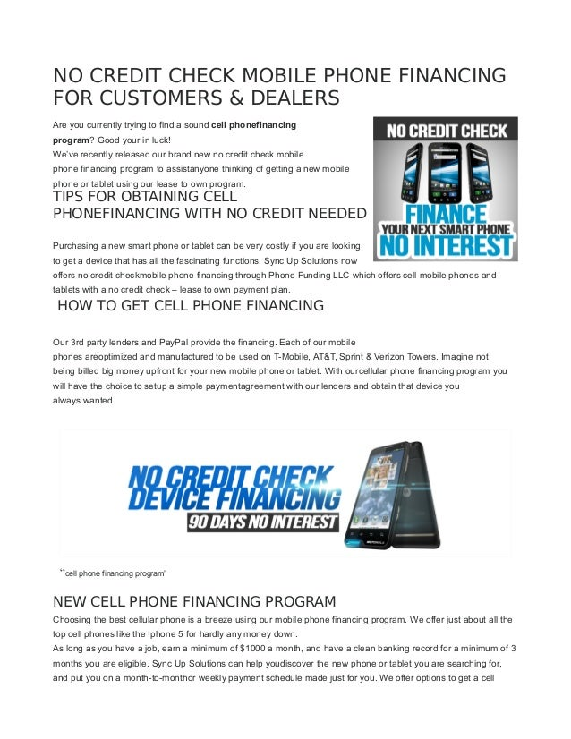 Start A Cell Phone Financing Business From Home
