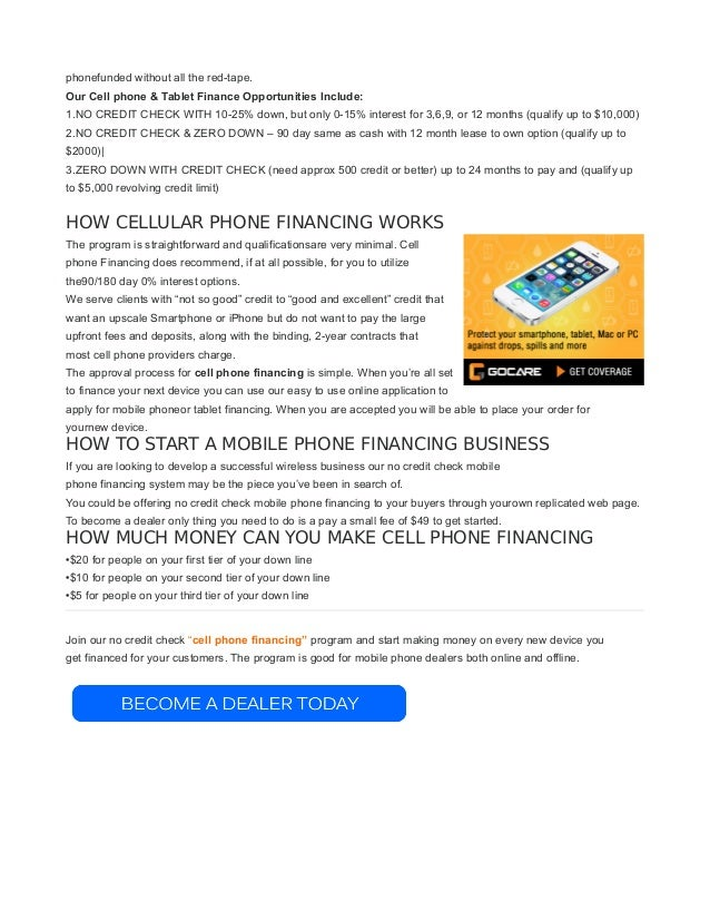 Iphone  No Credit Check Financing