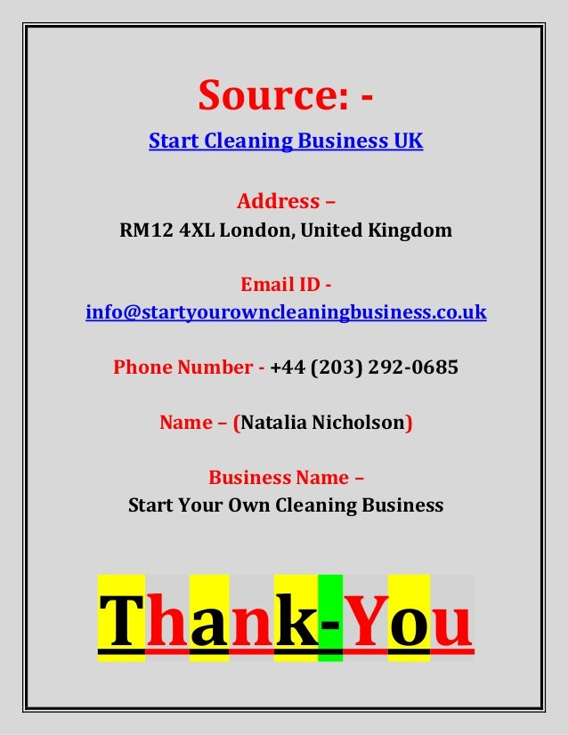 Start Cleaning Business Uk