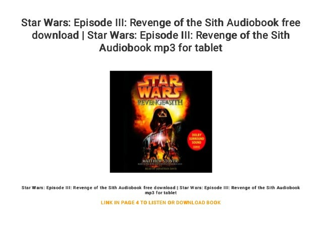 Star Wars Episode Iii Revenge Of The Sith Audiobook Free Download