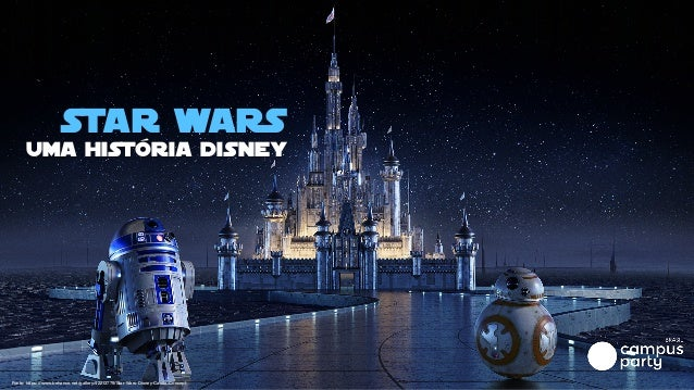 Star Wars uma história disney Fonte: https://www.behance.net/gallery/42213779/Star-Wars-Disney-Castle-Concept