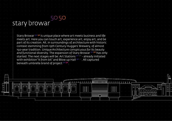 Stary Browar 50 50 is unique place where art meets business and life meets art. Here you can touch art, experience art, en...