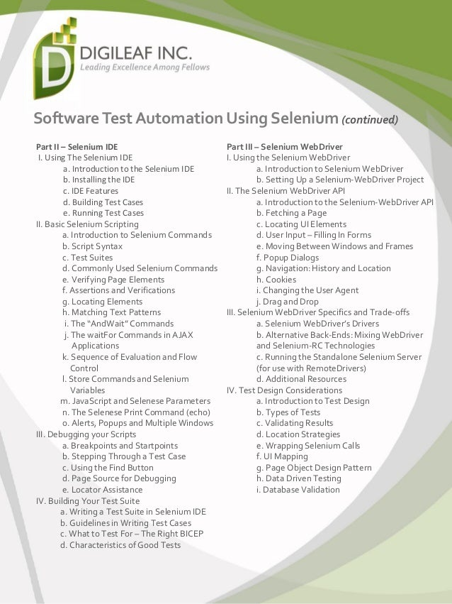 write automated test scripts selenium element