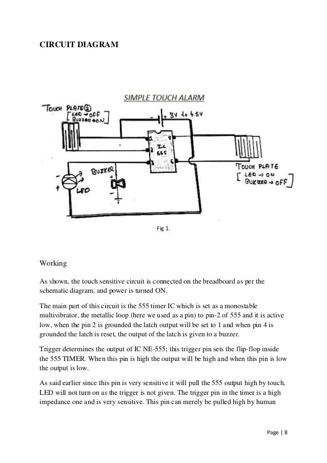 simple touch alarmSimple Touch Alarm Circuit #11