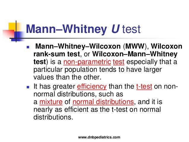 Stat for Mann whitney u table