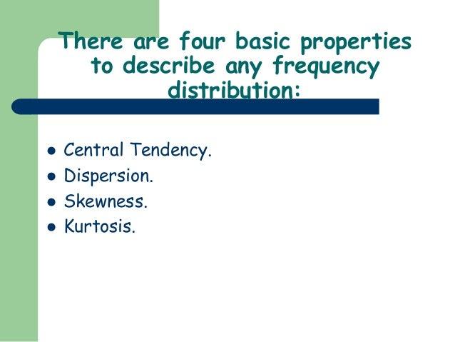 measures of dispersion skewness and kurtosis pdf