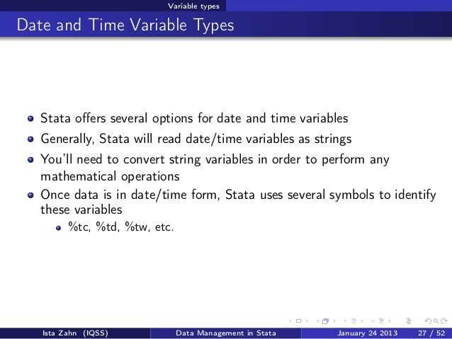 Data management in Stata