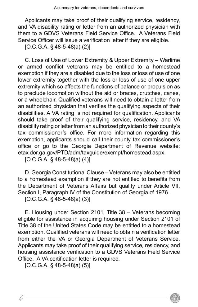 va disability letter va disability verification letter viewletter co 25408 | benefits from the state of georgia for veterans 6 638