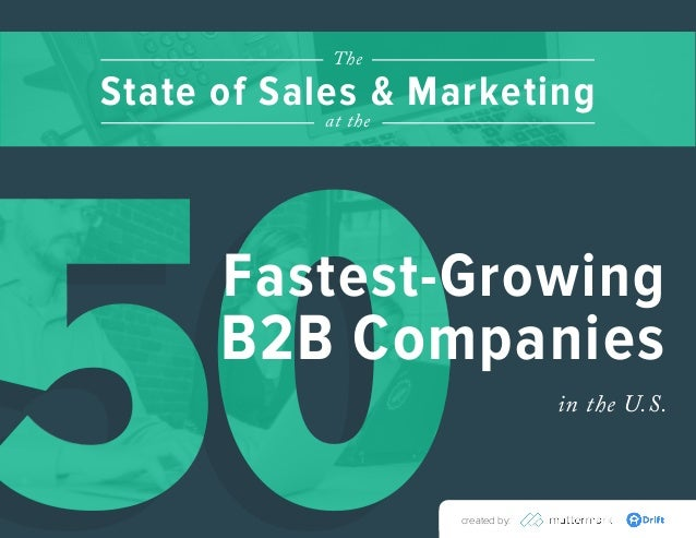 5050created by: in the U.S. Fastest-Growing B2B Companies State of Sales & Marketing The at the