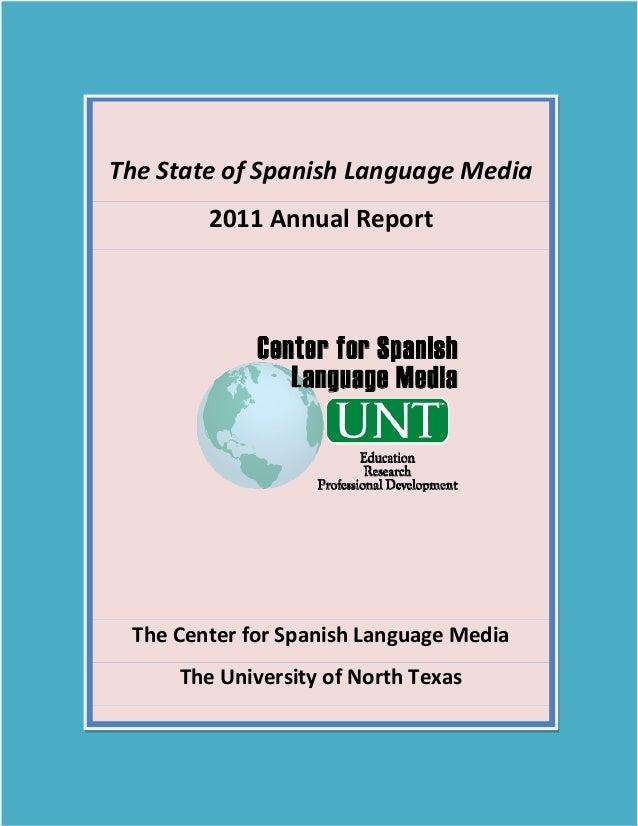 TheStateofSpanishLanguageMedia                2011AnnualReport                                          ...