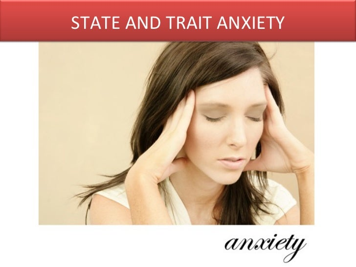 trait and state anxiety relationship to depression