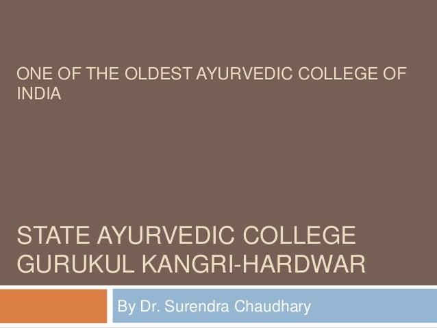 State ayurvedic college gurukul kangri Hardwar