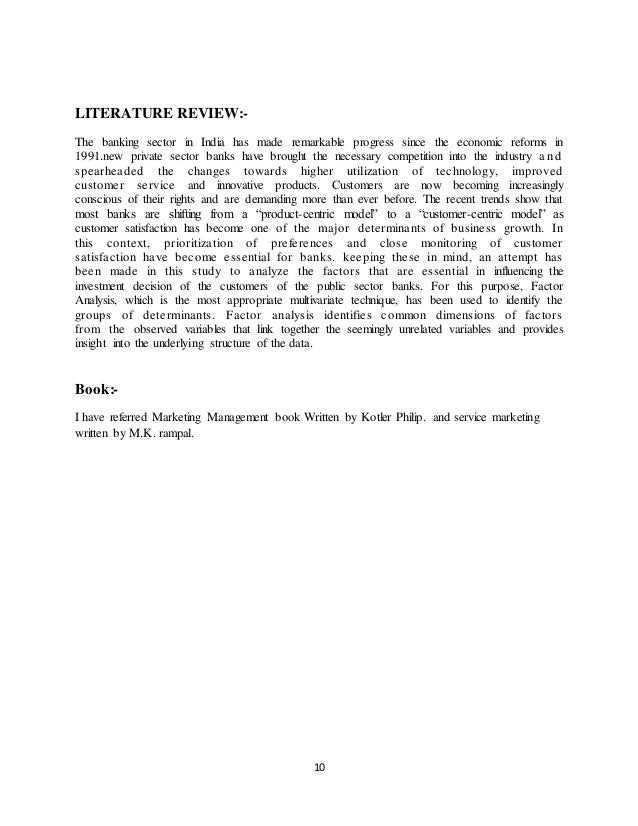 literature review on customer satisfaction in banking services Service quality effects on customer satisfaction in banking  servqual model influence customer satisfaction with deposit services in vietnam  a literature review.