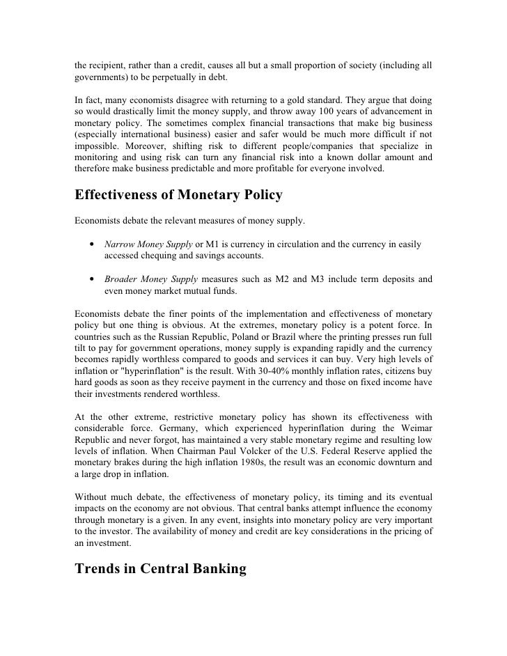 "monetary policy in pakistan Advertisements: ""monetary policy involves the influence on the level and composition of aggregate demand by the manipulation of interest rates and the availability of credit""-dc aston."