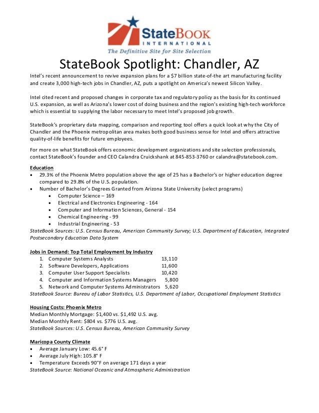 State Book Snapshot Chandler AZ - Changes in us employment international mapping