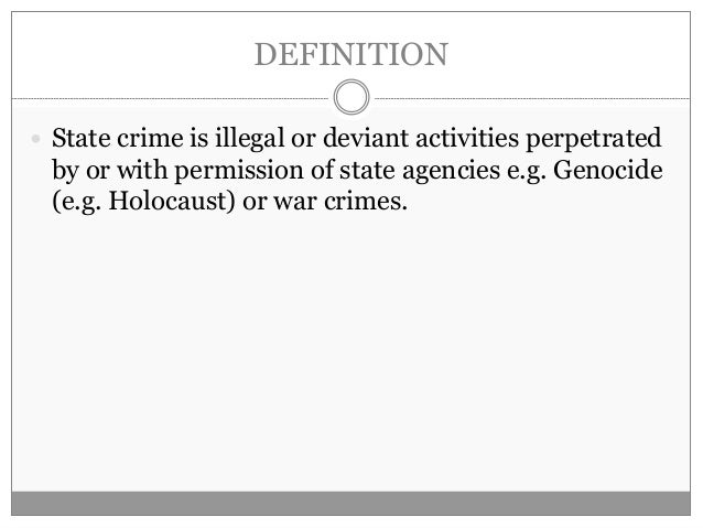 state crime sociology crime and deviance a lay out for an essay r e v i s i o n m i l l i e p r i c e state crime 2