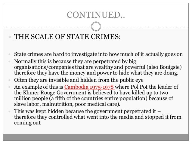 State crime - sociology crime and deviance A2 - lay out for an essay