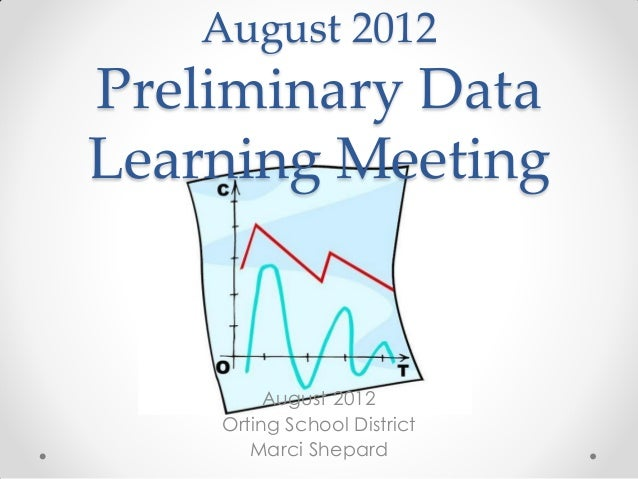 August 2012Preliminary DataLearning Meeting         August 2012    Orting School District       Marci Shepard