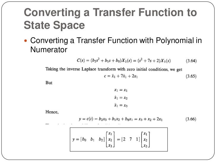 Transfer function to state space example 2 youtube.