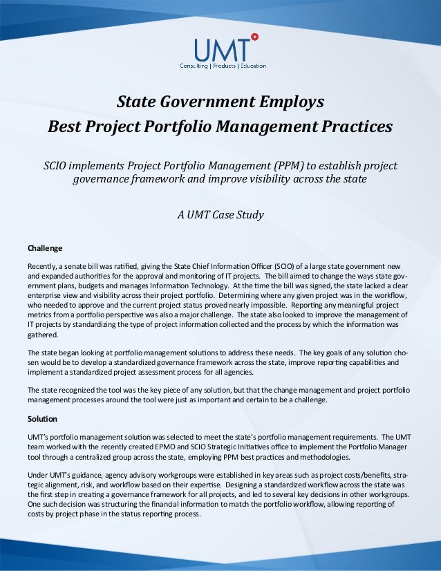 State Government Employs Project Portfolio Management Best Practices