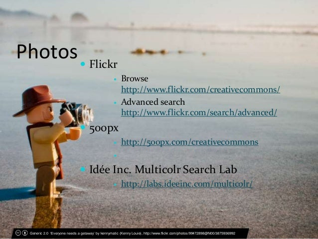 Creative Commons Licences: Applying CC licences, searching for CC-lic…