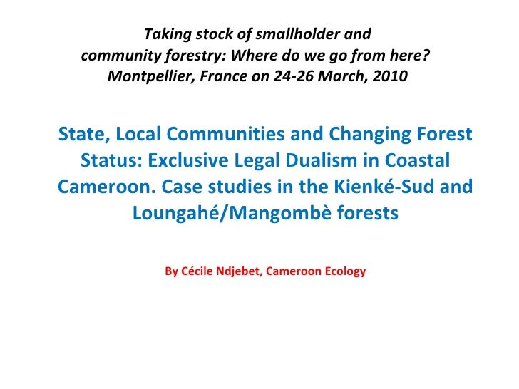 Taking stock of smallholder and community forestry: Where do we go from here?  Montpellier, France on 24-26 March, 2010 St...