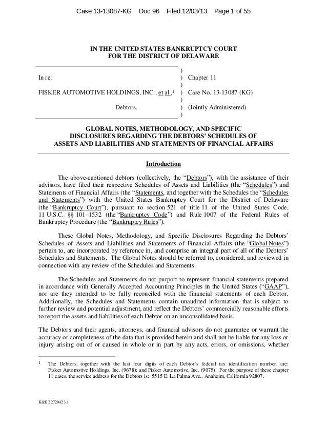 Case 13-13087-KG  Doc 96  Filed 12/03/13  Page 1 of 55  IN THE UNITED STATES BANKRUPTCY COURT FOR THE DISTRICT OF DELAWARE...