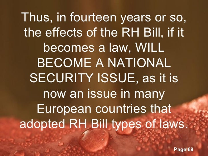 rh bill in the philippines Signed: the rh bill is now republic act 10354 (updated) manila, philippines - as promised, the philippines enters 2013 with a reproductive health law.