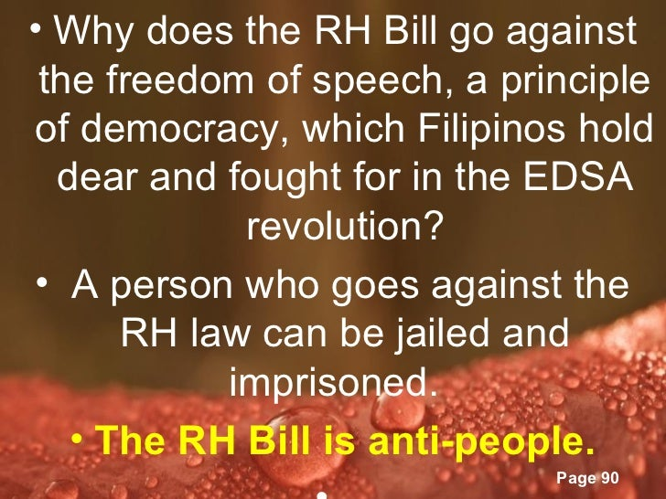 position paper about rh bill