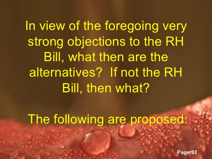 example of position paper about rh bill Filipinos are clamoring for the passage of the reproductive health care bill (rh bill) into law we saw the examples of then health secretaries dayrit and duque who merely promoted nfp under clear jr issued a position paper in 1999 allowing its dispensation to rape.
