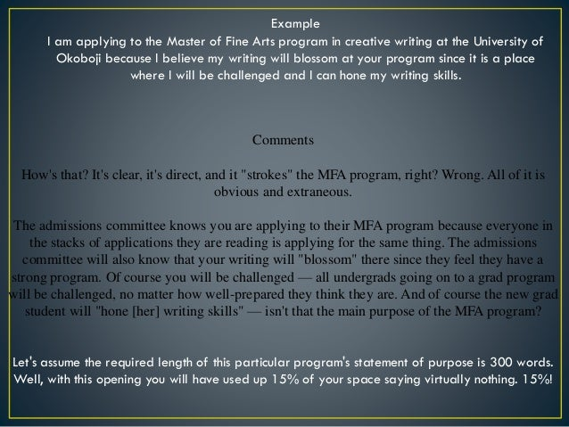 mfa creative writing admission requirements