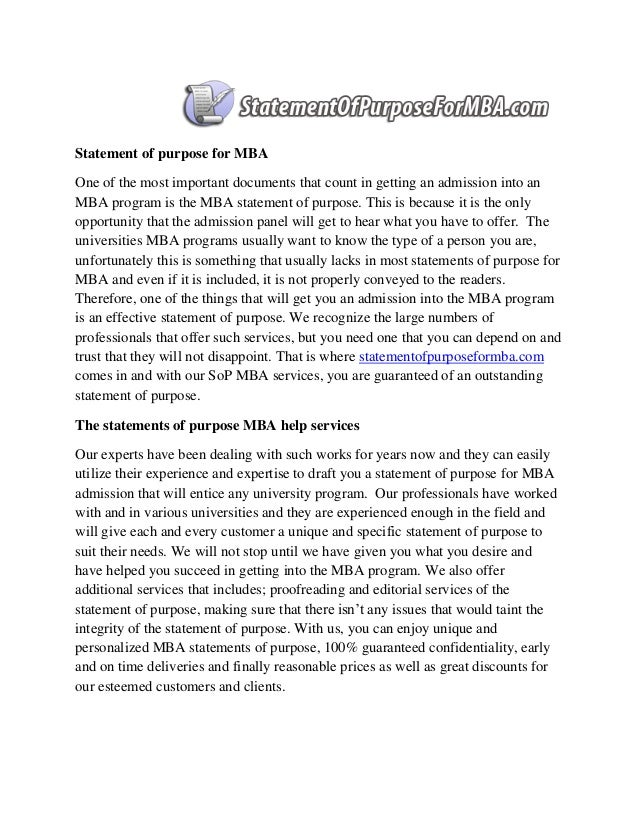 sample statement of purpose for mba in international business