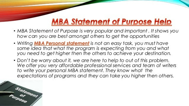Essay for mba finance
