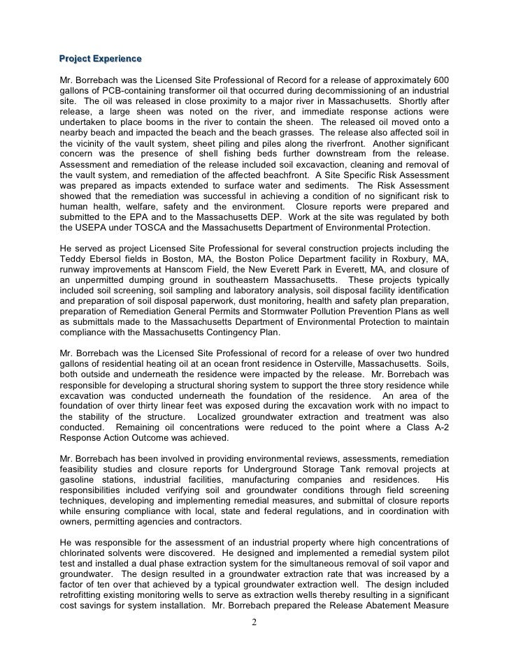 statement of qualifications update 8 2010 2