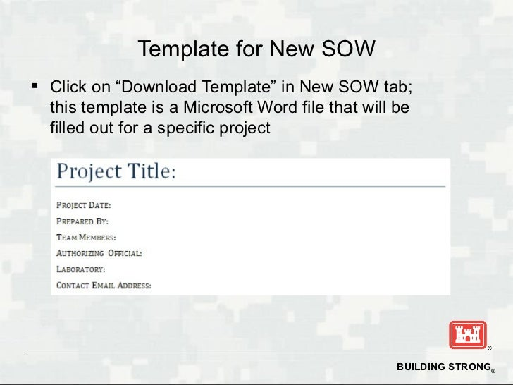 scope of work template word