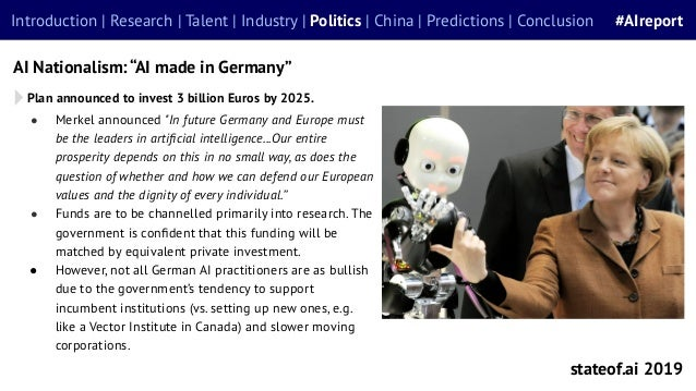 """● Merkel announced """"In future Germany and Europe must be the leaders in artificial intelligence...Our entire prosperity dep..."""