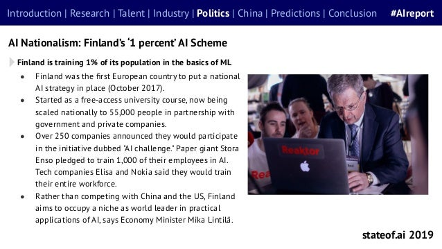 ● Finland was the first European country to put a national AI strategy in place (October 2017). ● Started as a free-access ...