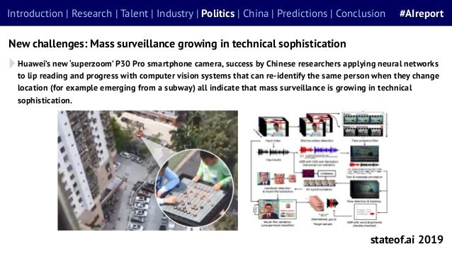 stateof.ai 2019 Introduction | Research | Talent | Industry | Politics | China | Predictions | Conclusion #AIreport New ch...