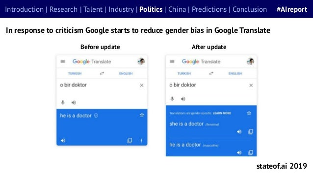Before update stateof.ai 2019 Introduction | Research | Talent | Industry | Politics | China | Predictions | Conclusion #A...