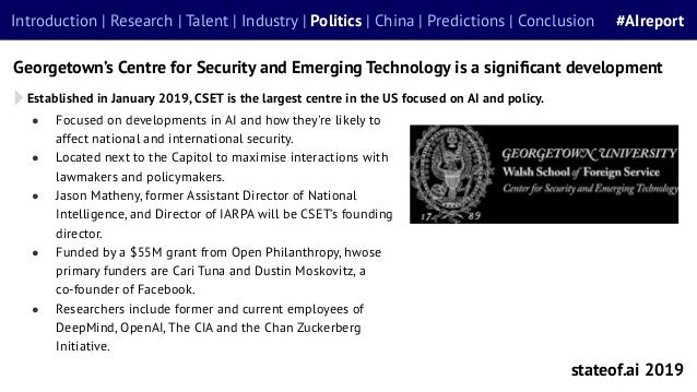 ● Focused on developments in AI and how they're likely to affect national and international security. ● Located next to th...