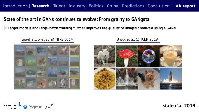 Larger models and large-batch training further improves the quality of images produced using a GANs. State of the art in G...